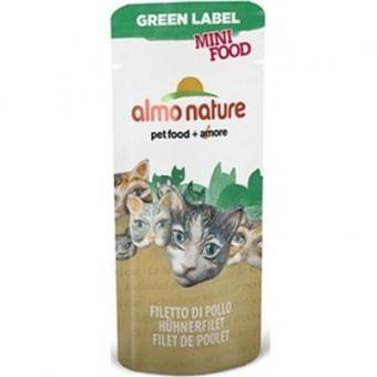 Almo Nature 30гр Green Label Mini Food Chicken Fillet  Куриное филелакомство для кошек