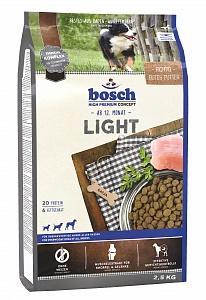 Bosch 1 кг Light Сухой корм для взрослых собак малоподвижных и склонных к полноте