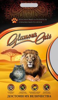 Glamourcats Classik 5кг комкующийся наполнитель без запаха (средние гранулы)