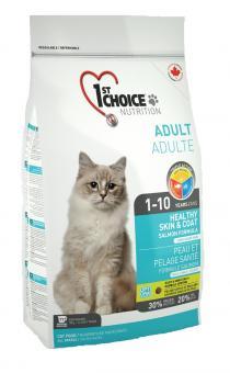 1st Choice 0,35 кг Healthy Skin & Coat Здоровая кожа и Шерсть лосось, корм для кошек