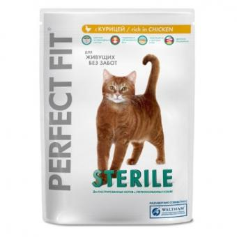 Perfect Fit 190 г. Сухой корм для кастрированных  котов и стерилизованных  кошек