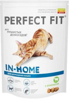 Perfect Fit 650 г. Сухой корм для домашних кошек с ягненком