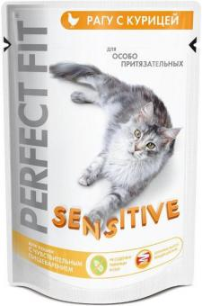6шт. Perfect Fit 85гр Паучи для кошек Красивая шерсть