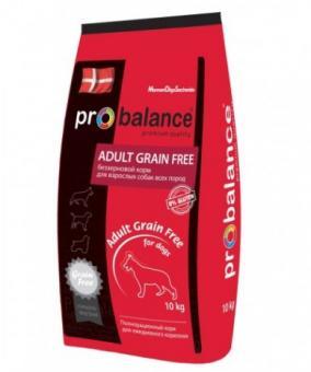 ProBalance 10кг Adult Grain Free Корм сухой для взрослых собак всех пород