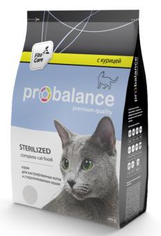 ProBalance 1,8кг Sterilized Корм сухой для кастрированных котов и стерилизованных кошек