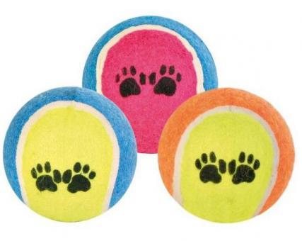 TRIXIE Игрушка для собак 1шт теннисный мячик с лапками, 6,4см