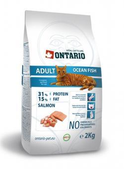 Ontario 10кг Adult Ocean Fish Сухой корм взрослых кошек с морской рыбой