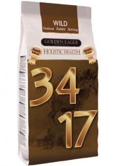 Golden Eagle Holistic 2кг Wild 34/17 Ферма дичь Сухой беззерновой корм с олениной, кроликом и сельдью