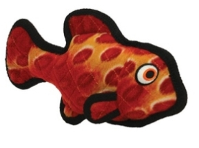 """Tuffy Ocean Creature Jr Fish Red Супер прочная игрушка для собак """"Обитатели океана"""" Рыбка, малая, красный, прочность 7/10"""
