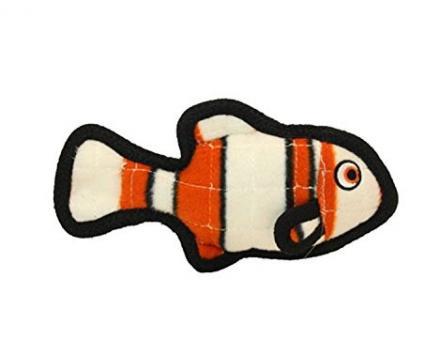"""Tuffy Ocean Creature Fish Orange Супер прочная игрушка для собак """"Обитатели океана"""" Рыбка, оранжевый, прочность 8/10"""