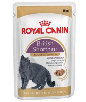 12шт.Royal canin 85 г.Британская короткошерстная (соус)