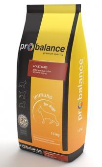 Probalance 15кг Adult maxi корм сухой для взрослых собак крупных пород