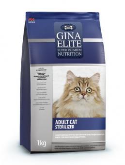 Gina 3кг Elite Cat Sterilized UK Сухой корм суперпремиум класса для кастрированных котов и кошек