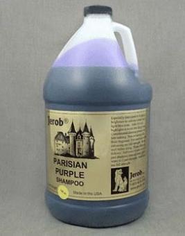 Jerob 3840мл Parisian Purple Shampoo Оттеночный концентрированный шампунь для кошек и собак светлых окрасов