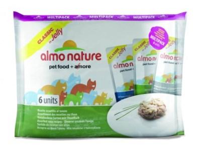 6шт Almo Nature 55г набор паучей для кошек с тунцом