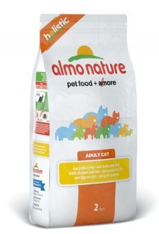 Almo Nature 12кг для взр, кошек  с курицей и коричневым рисом