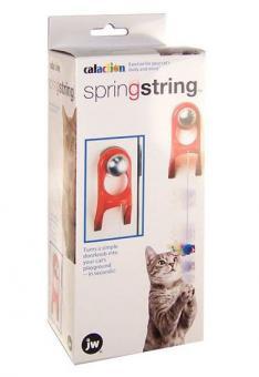 JW Мышка на резинке, пластик (крепится на дверную ручку) игрушка для кошек