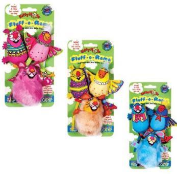 FatCat Три мягкие зверушки, мягкая (1уп.=3шт.) FatCat Fluff-o-Rama 3 pc Cat Toy