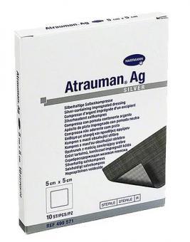 ATRAUMAN AG повязки с серебром (стерильные) 10 х 10 см, 3 шт.