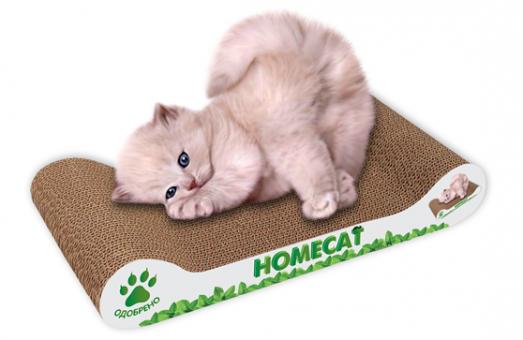 Homecat 41*41*63 см  Когтеточка Мятная волна малая