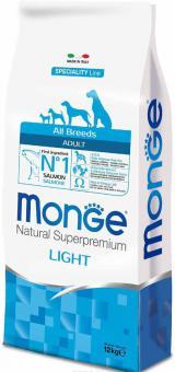 Monge Dog 2,5кг Speciality Light корм для собак всех пород низкокалорийный лосось с рисом