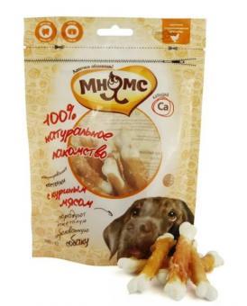 Мнямс 100г лакомство для собак кальцинированные косточки с куриным мясом