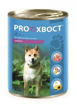 Proхвост 850гр Корм консервы для собак, ягненок