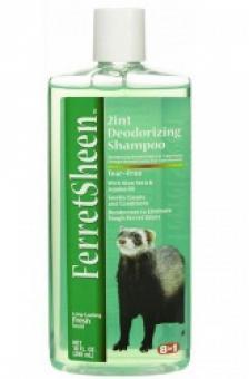 8in1 236мл FerretSheen 2in1 Waterless шампунь для хорьков без смывания дезодорирующий 2в1 спрей