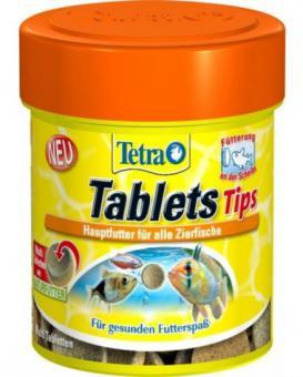 TetraDelica Tips FD 165 табл - таблетки из смеси высокачественных хлопьев и сублимированных микроорганизмов. Может быть приклеена к стеклу аквариума.
