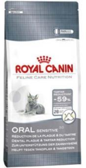 Royal canin 0,4кг Oral sensitive 30 Сухой корм для кошек от 1 до 10 лет для профилактики образования зубного налета и зубного камня