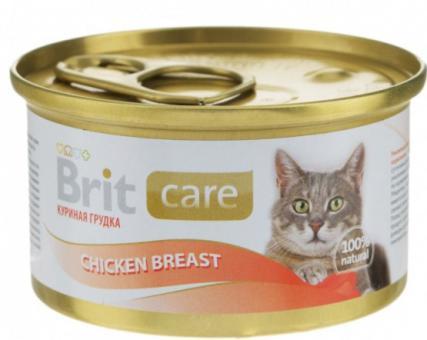 6шт*80 гр Brit Super Care Chicken Breast консервы для кошек куриная грудка
