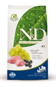 Farmina 2,5 кг N&D Dog Lamb & Blueberry Adult Беззерновой корм для взрослых собак всех пород Ягненок с Черникой