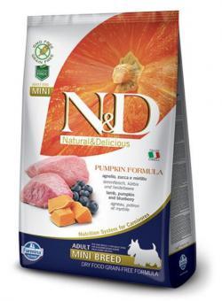 Farmina 0,8 кг N&D Low Grain Lamb & Blueberry Adult Mini Корм для взрослых собак мелких пород