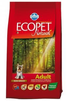 Farmina 12 кг Ecopet natural adult mini Для взрослых собак мелких пород с курицей