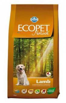 Farmina 12 кг Ecopet natural lamb Для взрослых собак с ягненком