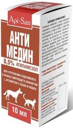 Антимедин 10 мл для снятия седативного эффекта у собак и кошек