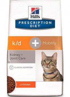 Hill's 2кг Mobility K/D Сухой корм для кошек лечение почек + поддержка суставов
