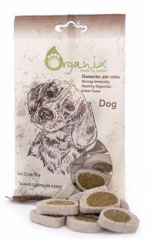 Organix 100г Лакомства для собак Подушечки с цыпленком и рисом