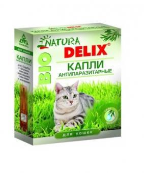 Natura Delix Bio Капли антипаразитарные для кошек 2пипетки