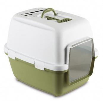 Stefanplast Туалет-домик 58х45х48см Cathy Comfort с уголным фильтром и совочком, голубой