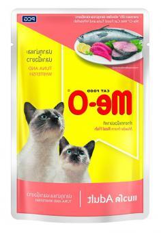 9+3шт в подарок МЕ-О Паучи для кошек 80г, Тунец и белая рыба в желе