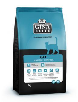 Gina 0,400 кг Elite Cat Hairball Control Полнорационный корм категории «холистик» для выведения комков шерсти из желудочно-кишечного тракта кошек