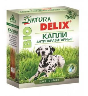 Natura Delix Bio Капли антипаразитарные для собак 3пипетки