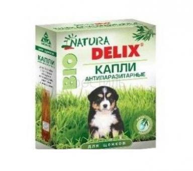 Natura Delix Bio Капли антипаразитарные для щенков 2пип