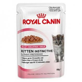 12 шт. Royal canin 85 г. Kitten Instinctive (в желе) Влажный корм для котят с 4 до 12 месяцев