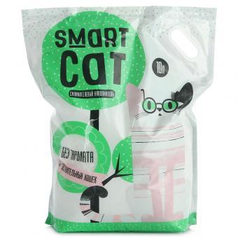Smart Cat 10л Силикагелевый наполнитель для чувствительных кошек (без аромата)