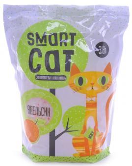 Smart Cat 7,6л Силикагелевый наполнитель с ароматом апельсина