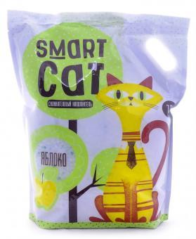 Smart Cat 7,6л Силикагелевый наполнитель с ароматом яблока