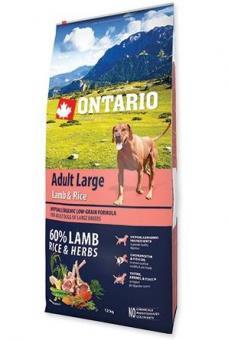 Ontario 12кг Adult Large Lamb, Turkey & Rice Сухой корм для собак крупных пород с ягненком, индейкой и рисом
