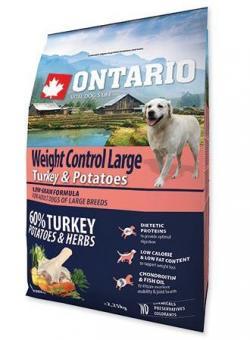 Ontario 2,25кг Large Weight Control Turkey & Potatoes Сухой корм для собак крупных пород Контроль веса с индейкой и картофелем
